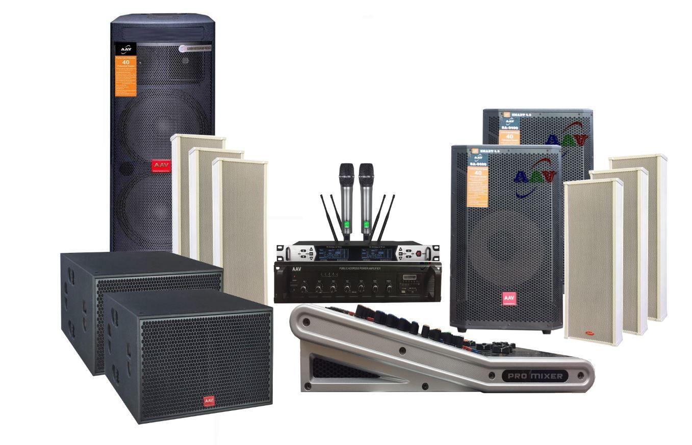 Hệ thống âm thanh nhà văn hóa xã cơ động, chuyên nghiệp sử dụng loa Active