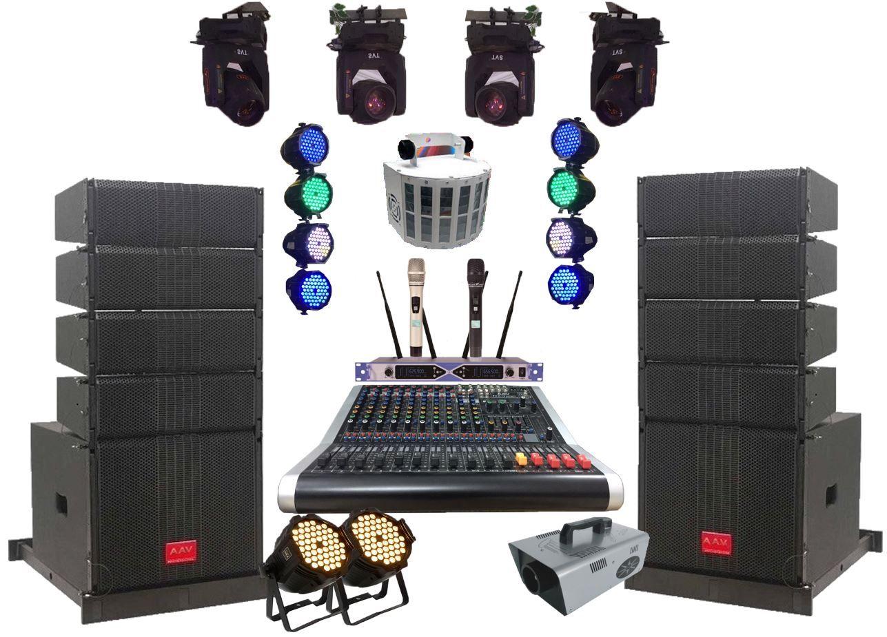 Hệ thống âm thanh nhà văn hóa xã chuyên nghiệp sử dụng hệ thống loa Line array active