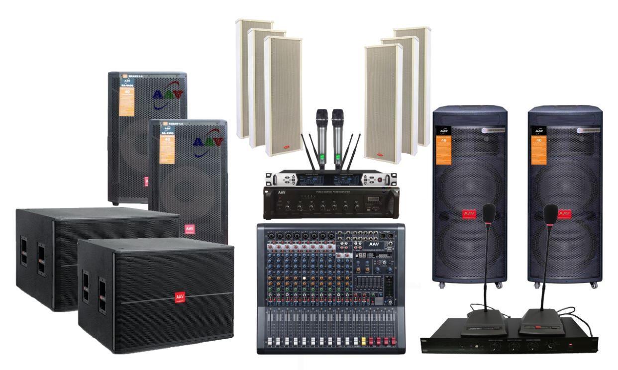 Hệ thống âm thanh nhà văn hóa huyện cơ động, chất lượng cao - sử dụng loa Active