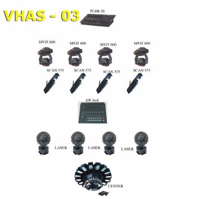 Bộ ánh sáng mẫu VHAS-03 - Ánh sáng sân khấu hội trường chất lượng cao