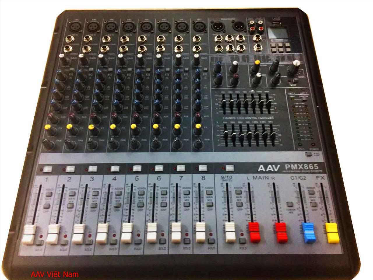 Mixer AAV-PMX865 chuyên nghiệp