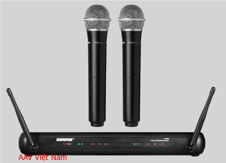 Micro không dây Shure SVX288/PG58 chuyên nghiệp