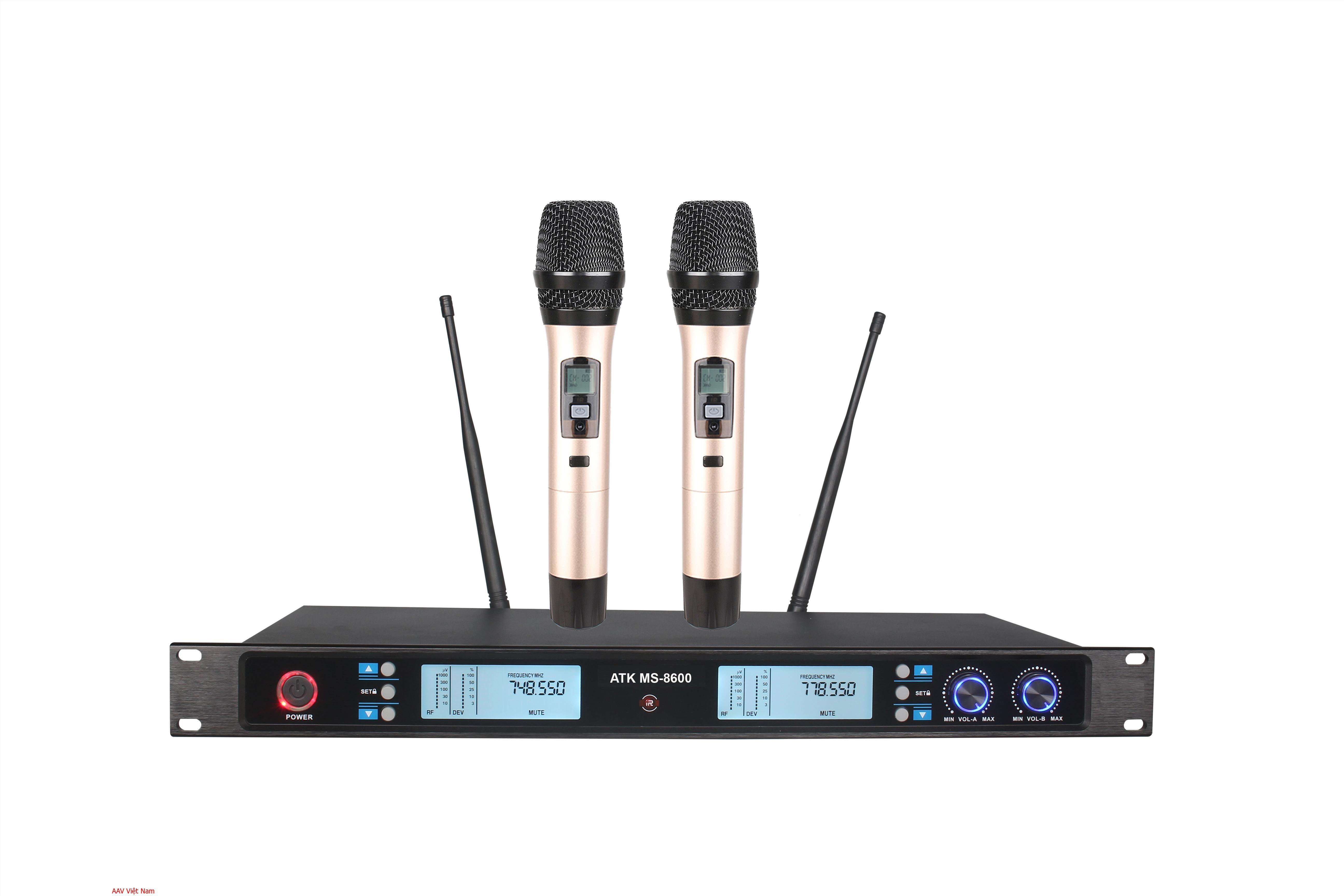 Micro không dây chất lượng cao bền đẹp chuẩn tiếng ATK MS-8600