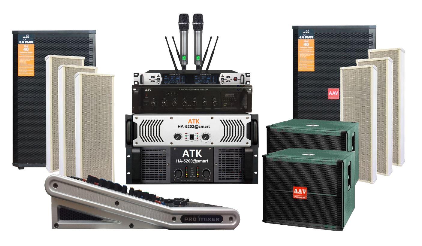 Hệ thống âm thanh nhà văn hóa xã chất lượng cao, giá rẻ - sử dụng loa full