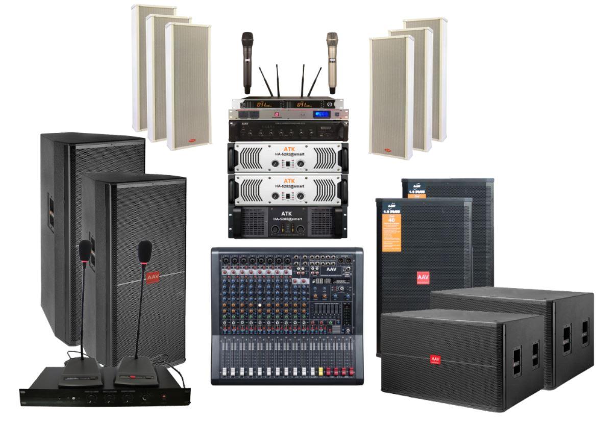 Hệ thống âm thanh cho nhà văn hóa huyện chất lượng cao, giá rẻ - sử dụng loa full