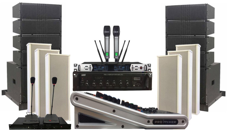 Hệ thống âm thanh nhà văn hóa huyện hiện đại, cơ động - sử dụng loa Line array Active