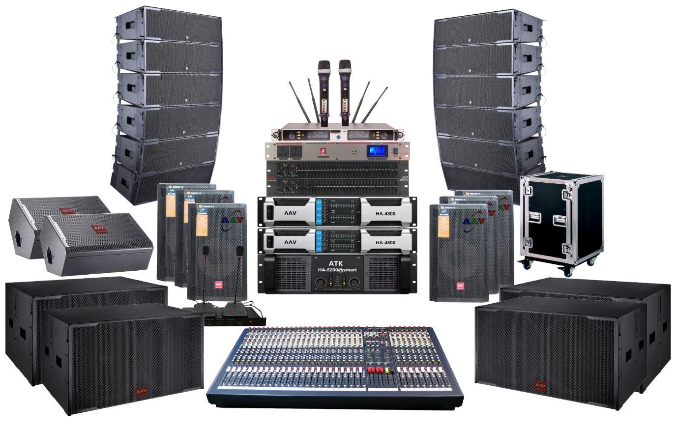 Hệ thống âm thanh nhà văn hóa tỉnh ủy chuyên nghiệp, hiện đại, chất lượng cao - sử dụng loa Line array