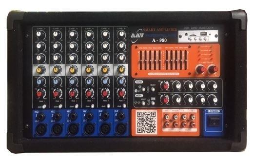 Amply hội trường 900W, 6 đường mic chuẩn nhất, giá tốt AAV A-980