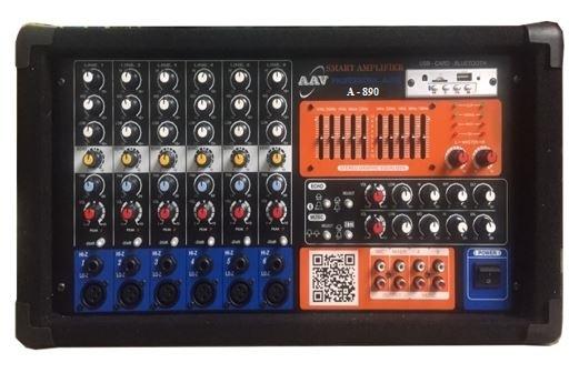 Amply hội trường 800W, 6 đường mic chất lượng cao, giá rẻ AAV  A-890