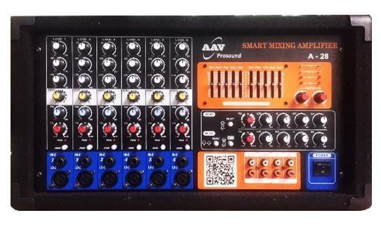 Amply hội trường 800W, 6 đường mic chuẩn  AAV  A-28
