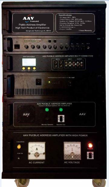 Tăng âm truyền thanh 2500W cao cấp AAV PA-2500