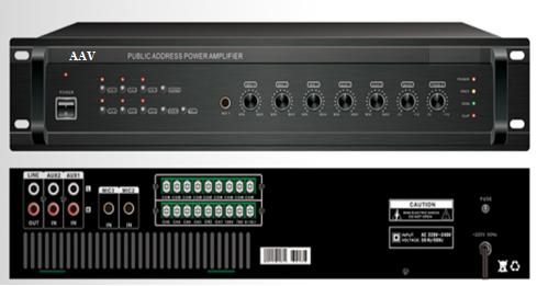 Tăng âm truyền thanh 1000W chia vùng AAV VA-1000 Z6
