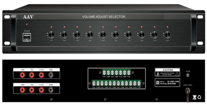 Tăng âm truyền thanh 800W chia vùng loa tốt, giá rẻ AAV  VA-800 Z6