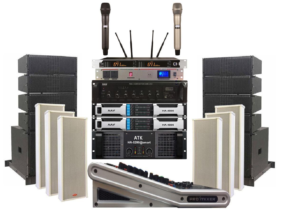 loaline array cho dàn âm thanh hội trường xã