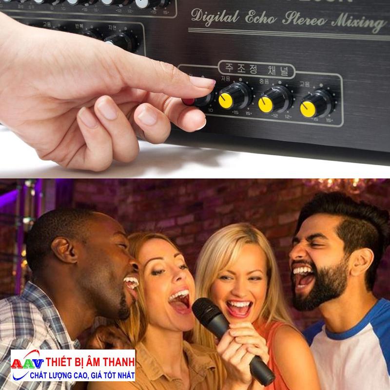 Điều chỉnh micro karaoke phù hợp không gian