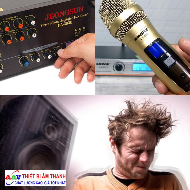 cách điều chỉnh micro karaoke